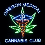 oregon medical cannabis club neon